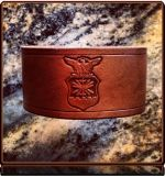 USAF Tribute -- Leather Cuff Bracelet by Soteria Leather