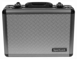 Alumalock Double Handgun Locking Case 'Gray' by Sportlock