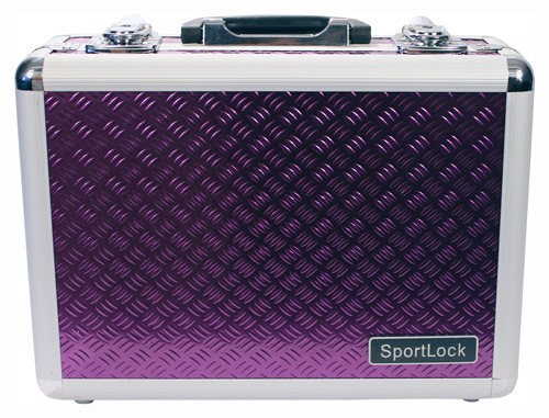 Alumalock Double Handgun Locking Case 'Purple' by Sportlock