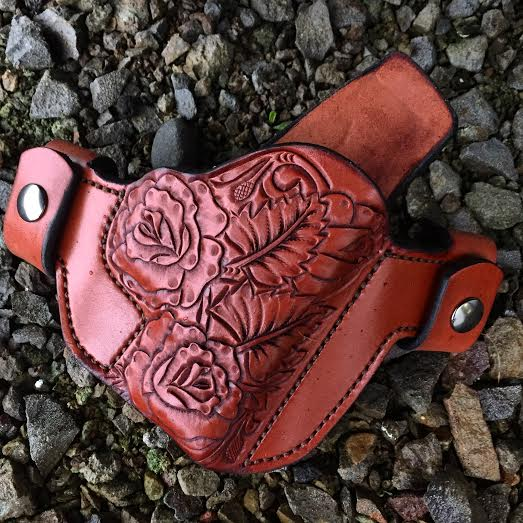 Soteria Floral 'Annie Rose' Custom Holster by Soteria Leather