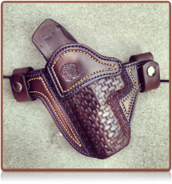 Basketweave 'Option' for Custom Holsters by Soteria Leather