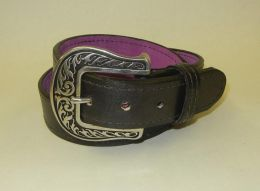 Miss Be Havin Black Leather Gun Belt by Flashbang Holsters/LB