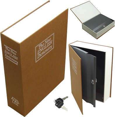 Bulldog Diversion Book Safe 'Brown' with 3 Wheel Combination Lock