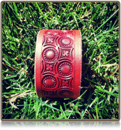 The 'Clover Sunburst' Wristband Bracelet by Soteria Leather