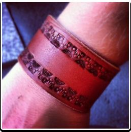 The 'Crowns' Leather Wristband Bracelet by Soteria Leather
