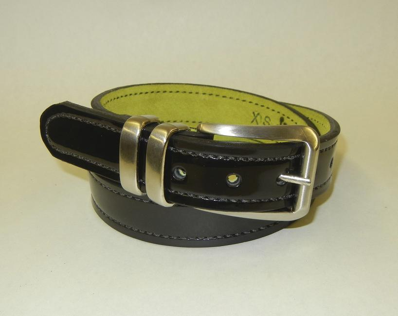 D-Day Doll Patent Leather Gun Belt by Flashbang Holsters/LB