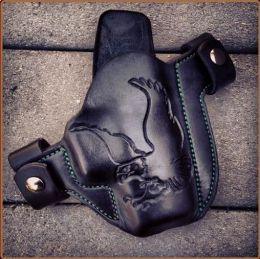 Eagle Hand Tooled Leather OWB Holster by Soteria Leather