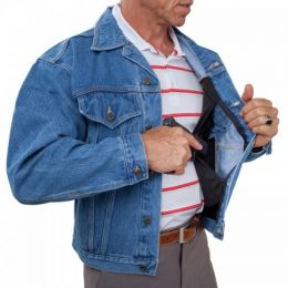 Blue Jean Handgun Concealment Jacket by UnderTech