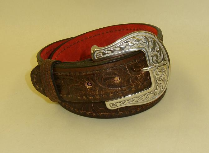 Liberty Belle Scorched Brown Leather Gun Belt by Flashbang Holsters/LB