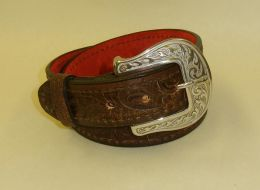 Liberty Belle Scorched Brown Leather Gun Belt by Flashbang Holsters