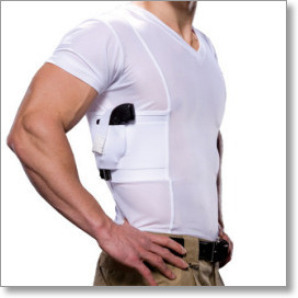 men s concealed carry holster v neck t shirt by undertech