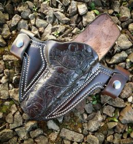 Soteria Floral 'Oak Leaf' Design Holster by Soteria Leather