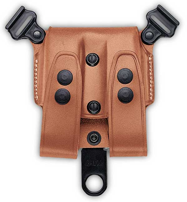 SCL Leather Double Mag Case for Shoulder Holsters - Galco
