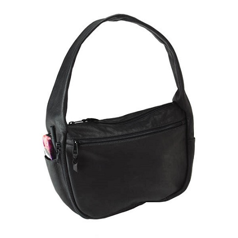 Solitaire Hobo Style Leather Holster Handbag By Galco