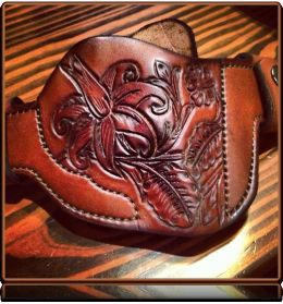 Soteria Floral 'Revolver-2' Custom Holster by Soteria Leather