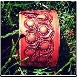 The 'Sunburst' Leather Wristband Bracelet by Soteria Leather