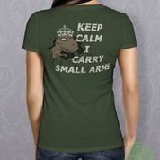 Tee Rex Keep Calm - Olive Green Traditional Fit -OffHand Gear