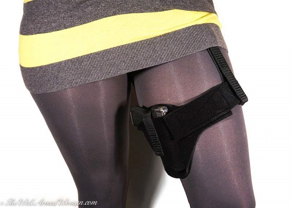 Thigh Holster for Women with Garter by The Well Armed Woman