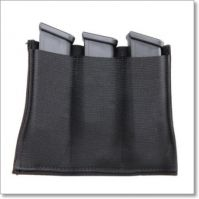 Universal 3-Magazine Holster of Elastic & Velcro by Magills